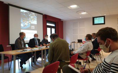 Germinal Peiro présente le Life rivière Dordogne à la presse